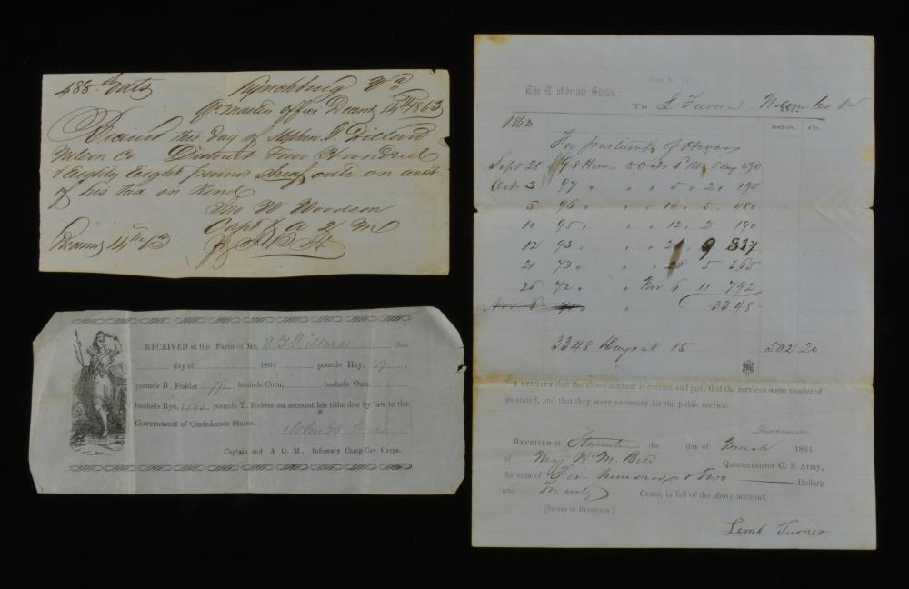 C.S.A. Lynchburg Va. Supply Orders Receipts
