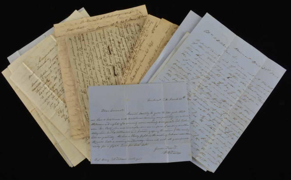 Virginia Political Letters 1830s -1850s Group Lot