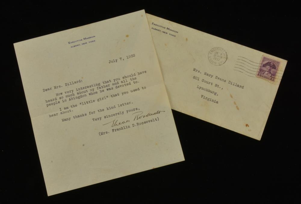 Mrs. Franklin D. Roosevelt 1932 Letter To Mrs. Dillard
