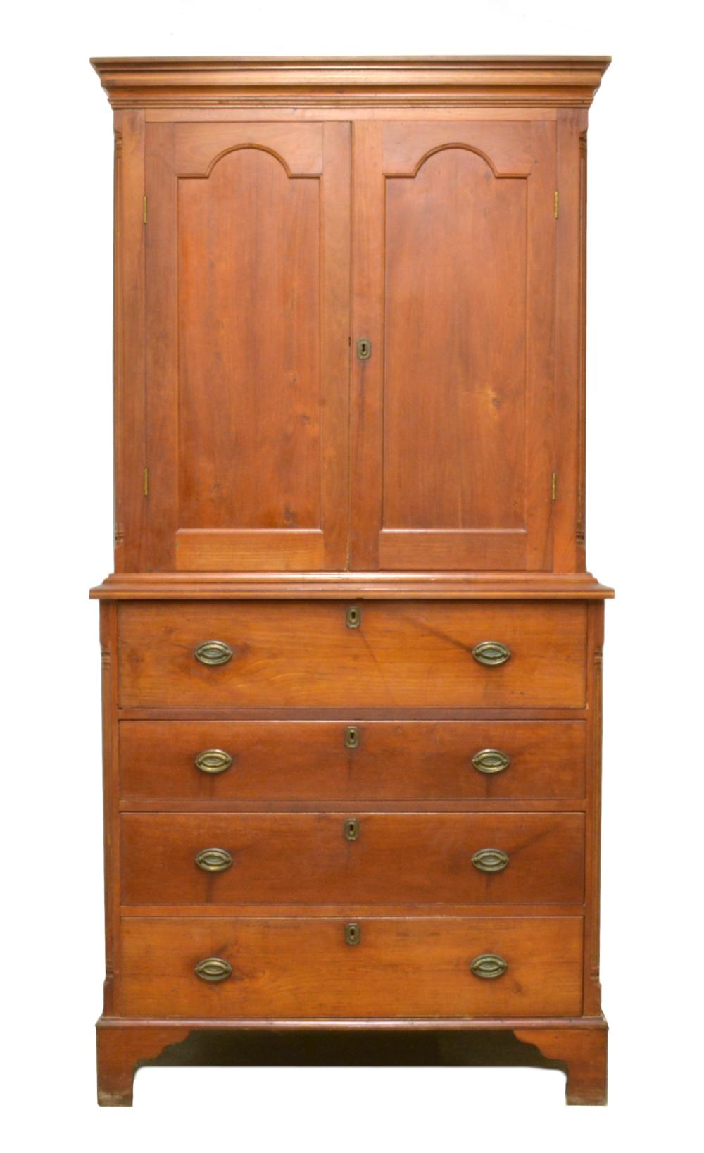 Amherst Virginia 1840 Walnut And Cherry Butlers Secretary Desk Bookcase