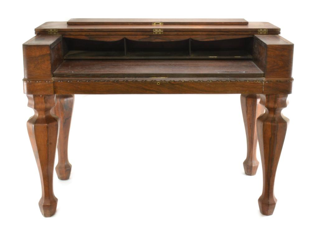 Early American Empire Rosewood Spinet Desk