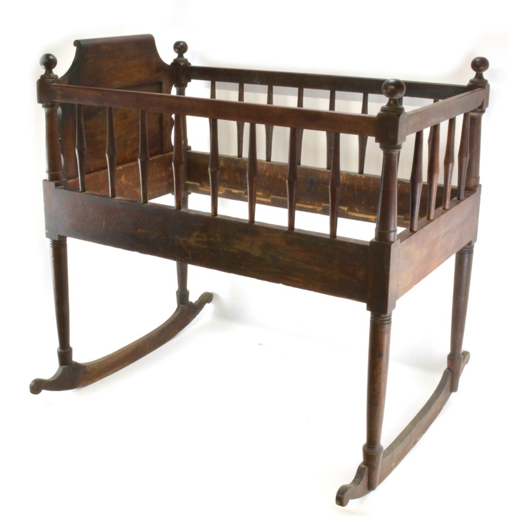 1859 Belvin & Atkinson Richmond Va. Baby Crib