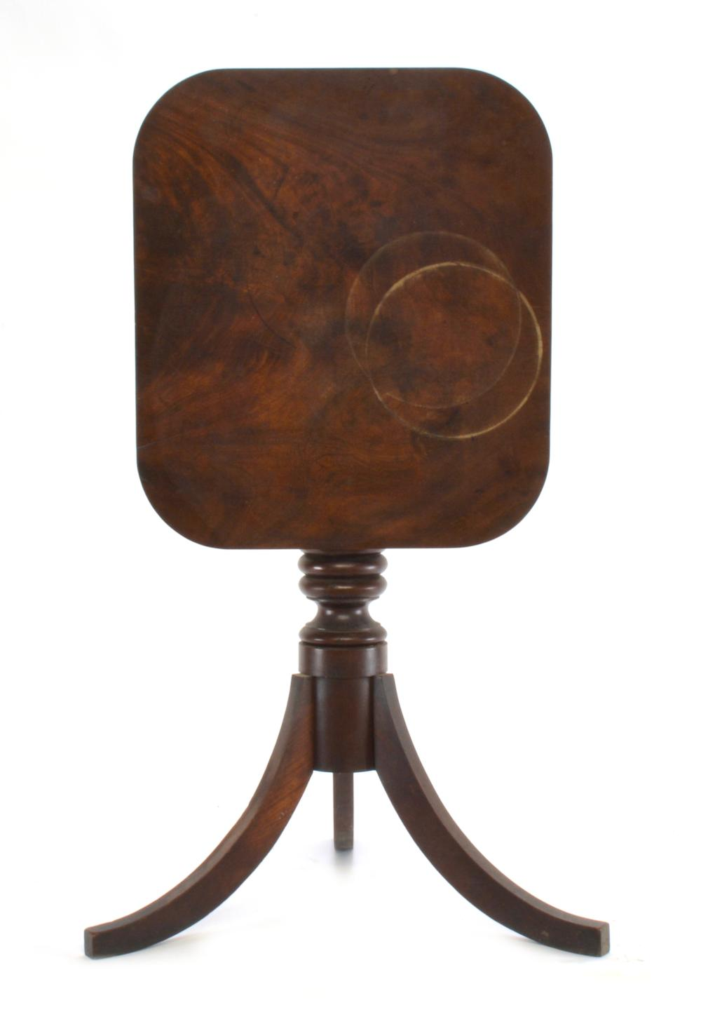 Early Virginia Federal Tilt Top Candle Stand