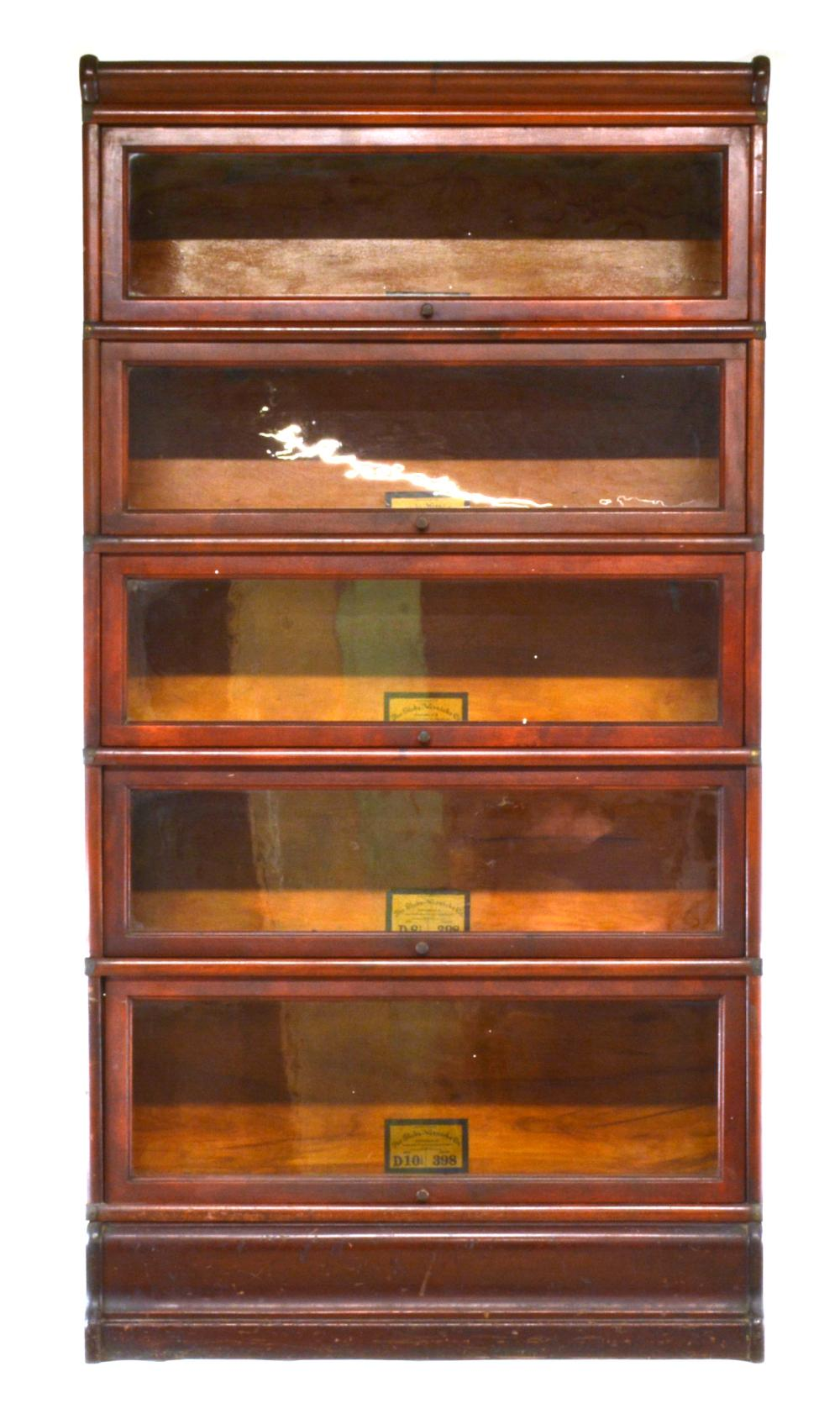 Globe Wernicke Co. Formal Mahogany Stacking Bookcase
