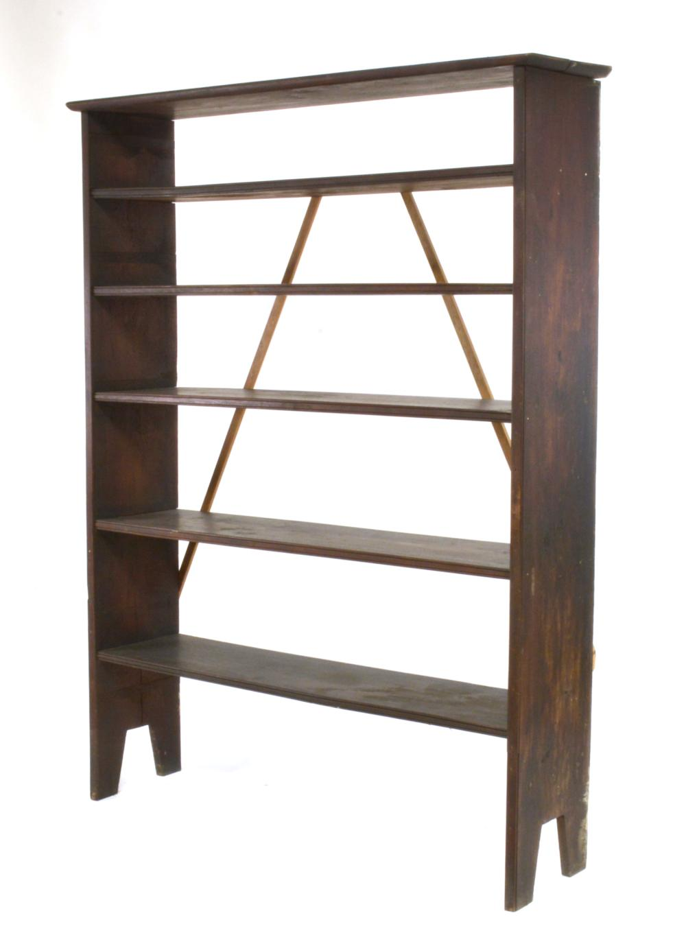 Amherst Virginia Dillard Family Handmade Walnut Bookcase