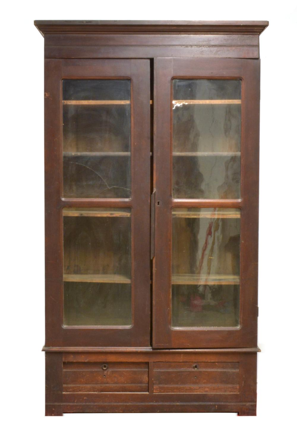 Victorian Walnut Library Bookcase