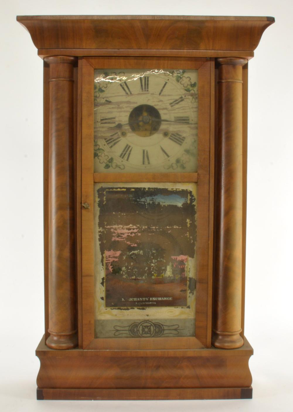 Antique Birge & Fuller Bristol Conn Eight Day Mantel Clock