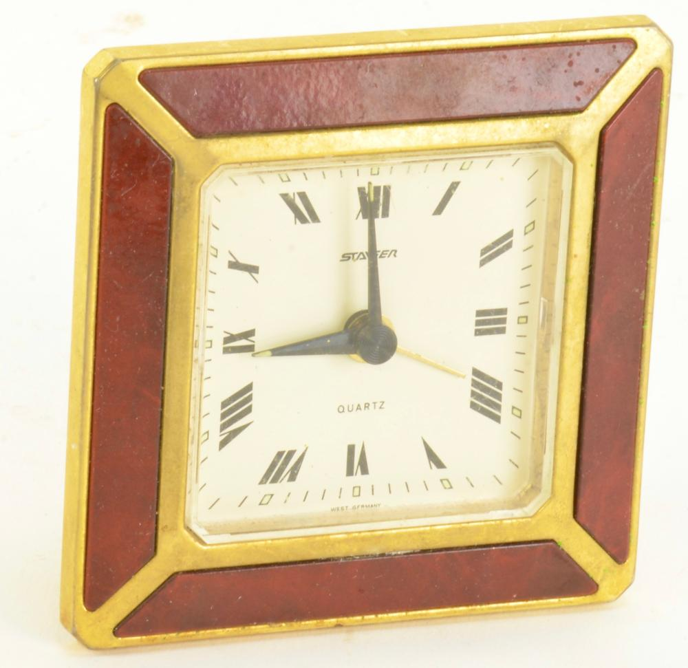 Vintage Art Deco Staiger Desk Clock West Germany