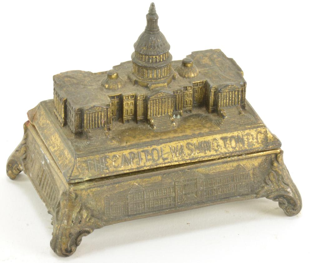 Vintage The Capitol Washington DC Desk Inkwell