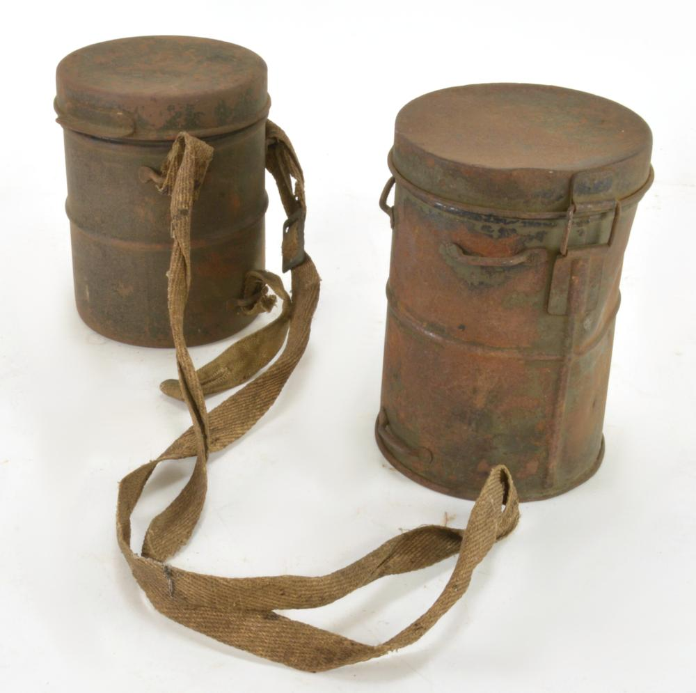 WWI Military Gas Mask Containers