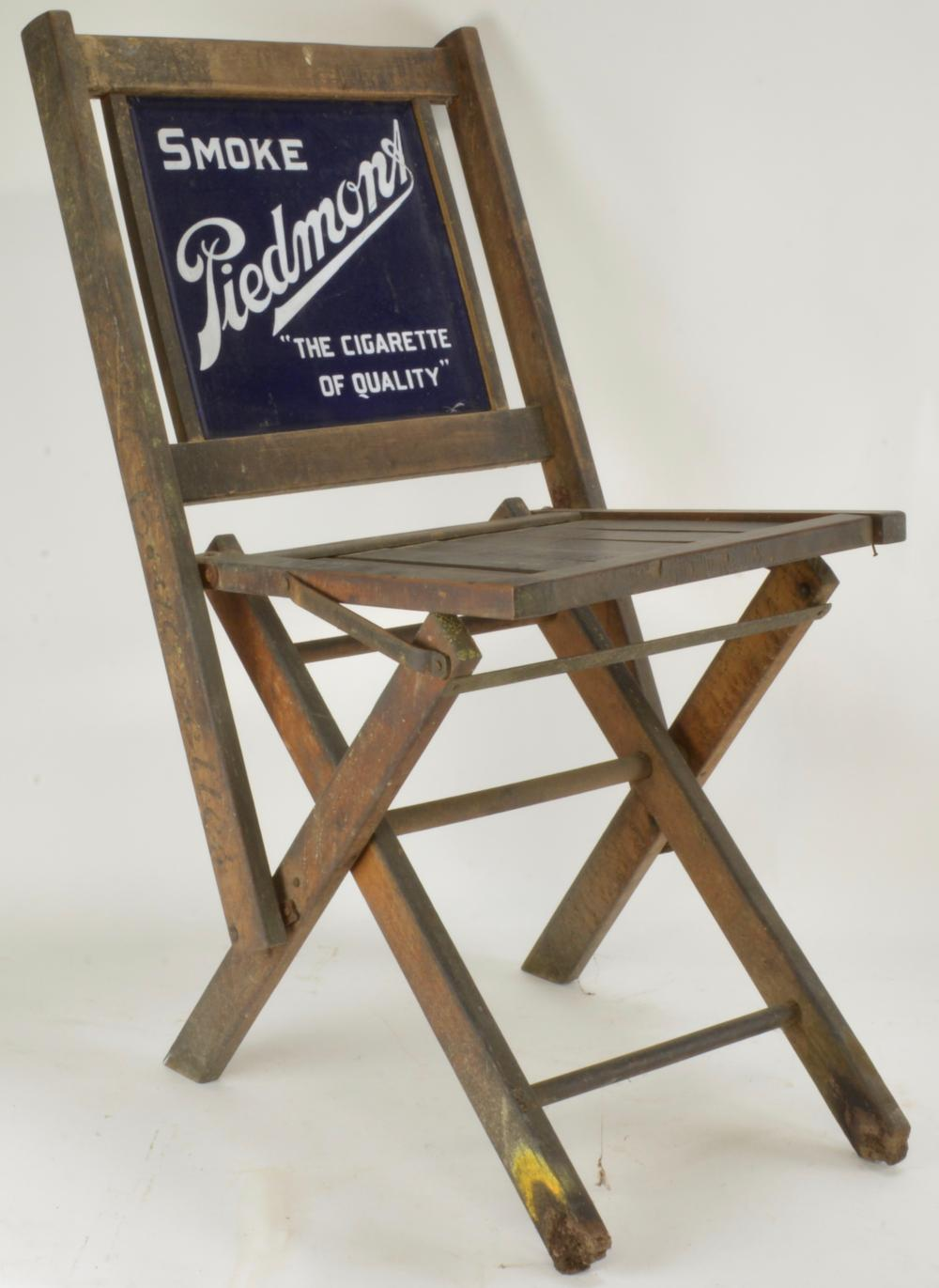 Antique Piedmont Cigarette Porcelain Folding Chair