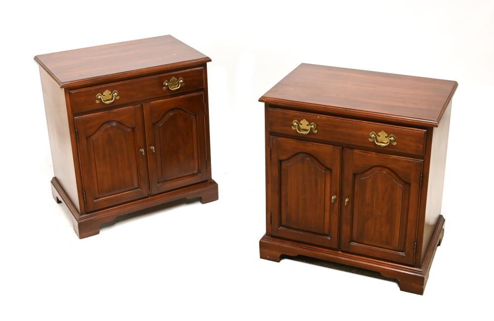 Virginia Galleries Furniture By Henkel Harris 114 Pair Nightstands