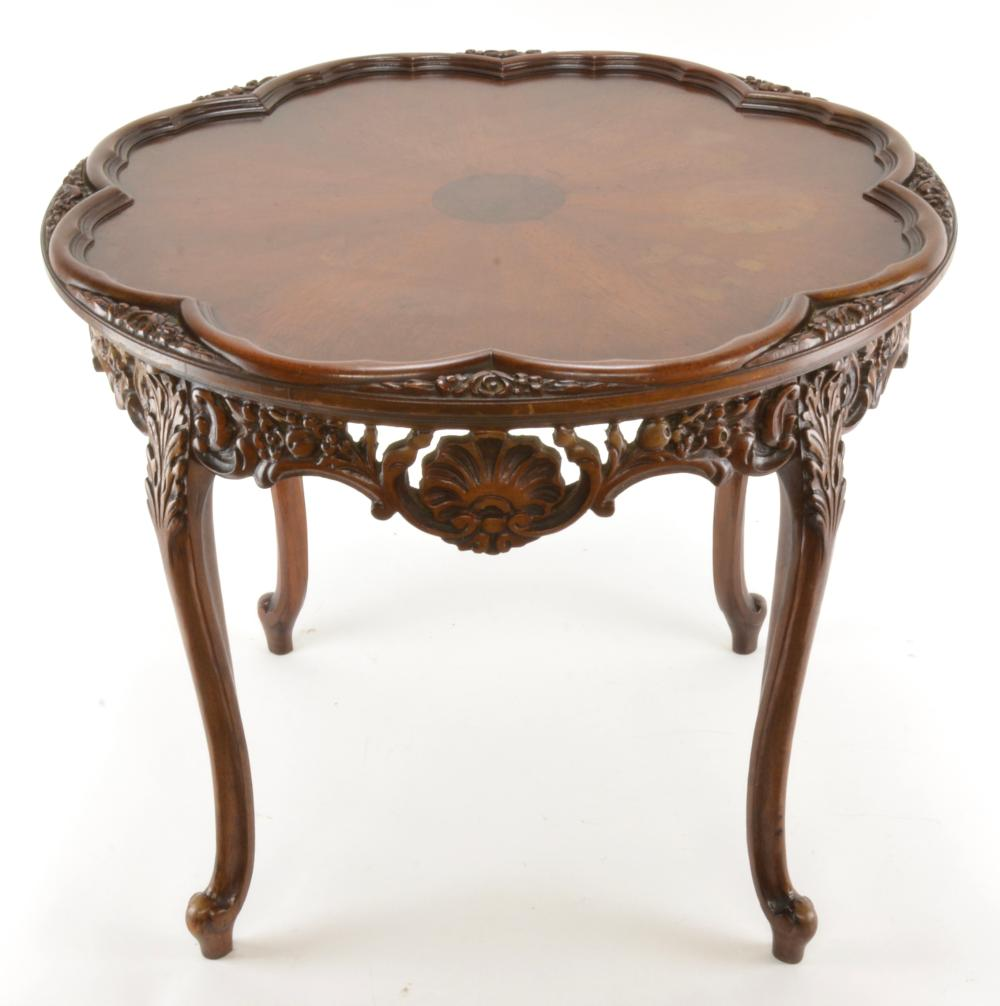 Formal Mahogany French Carved Table