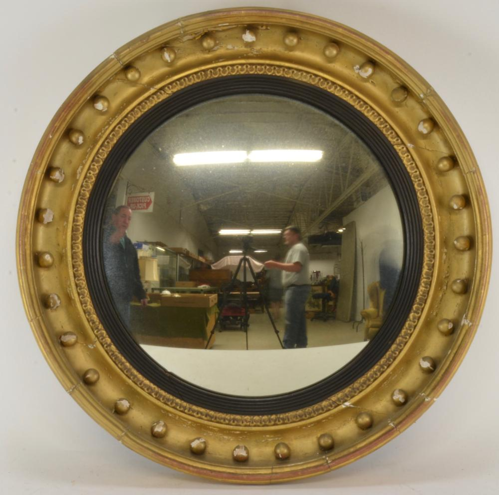 Period Federal Bullseye Mirror