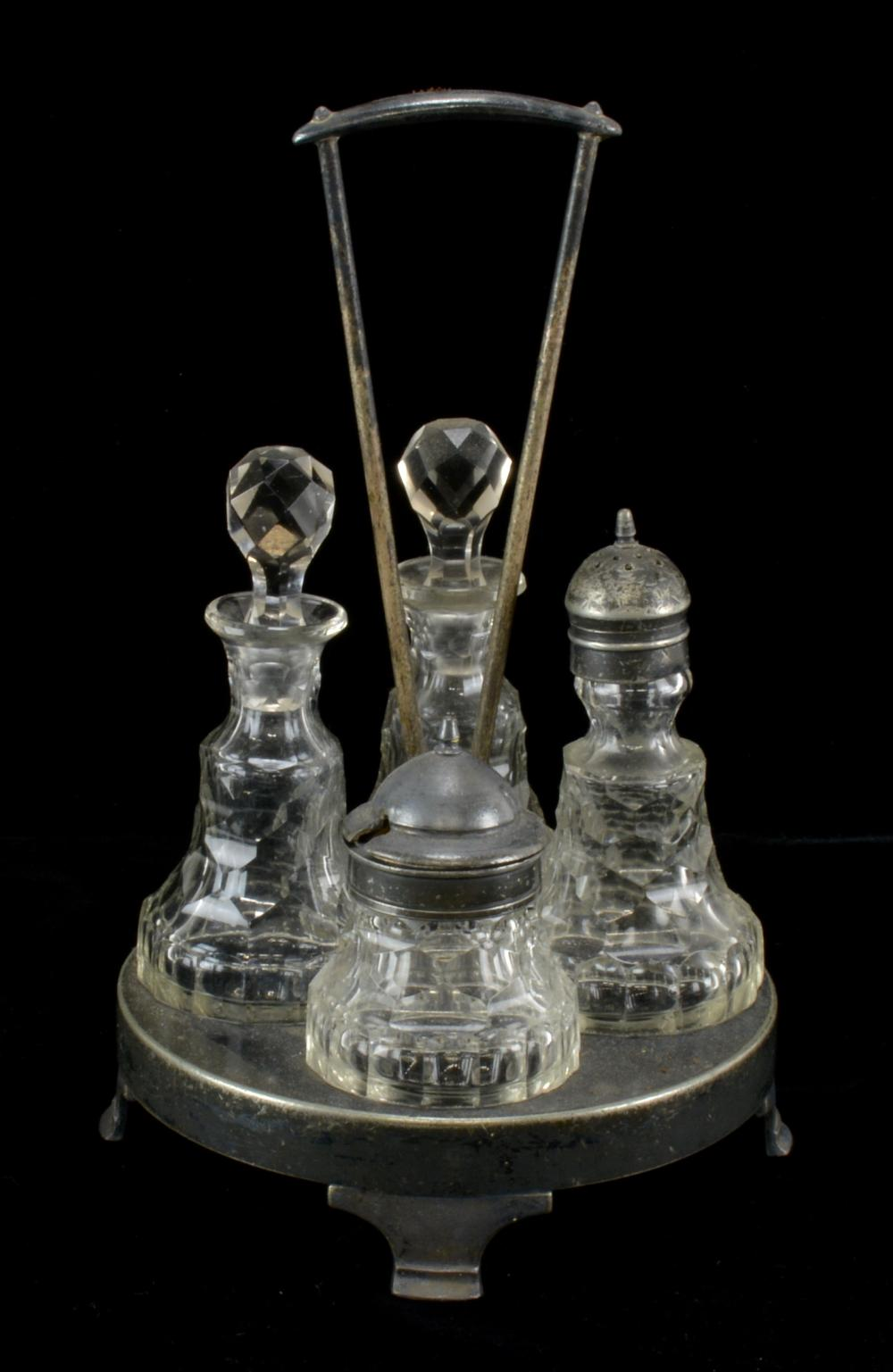 Victorian Cut Glass Castor Set