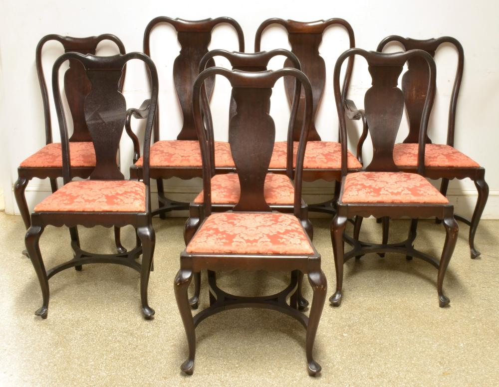Fine Mahogany Queen Anne Style Dining Chairs