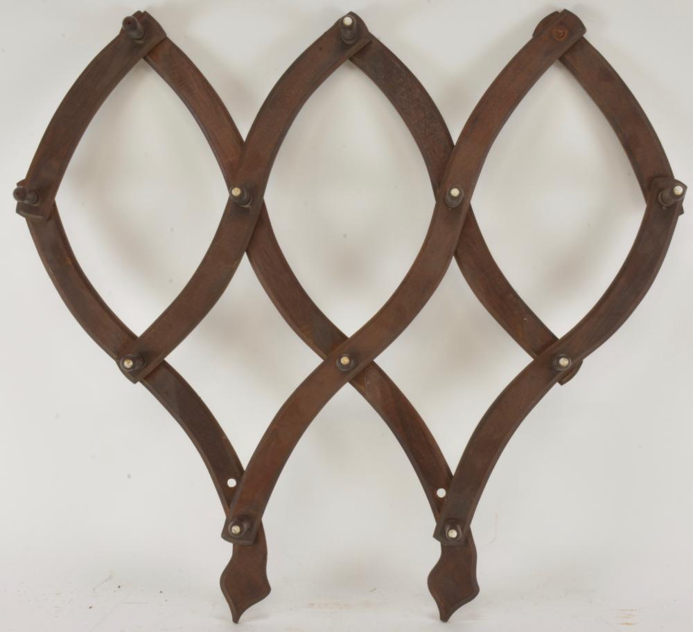 Victorian Folding Wall Hat Rack