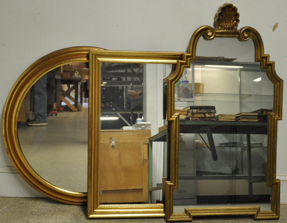 French Gold Gilt Style Mirror Collection