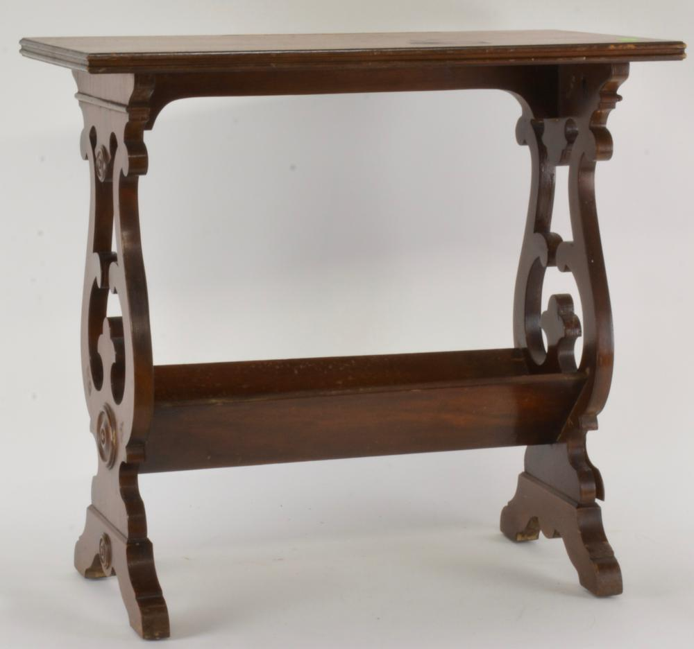 Antique Mahogany Bookshelf End Table