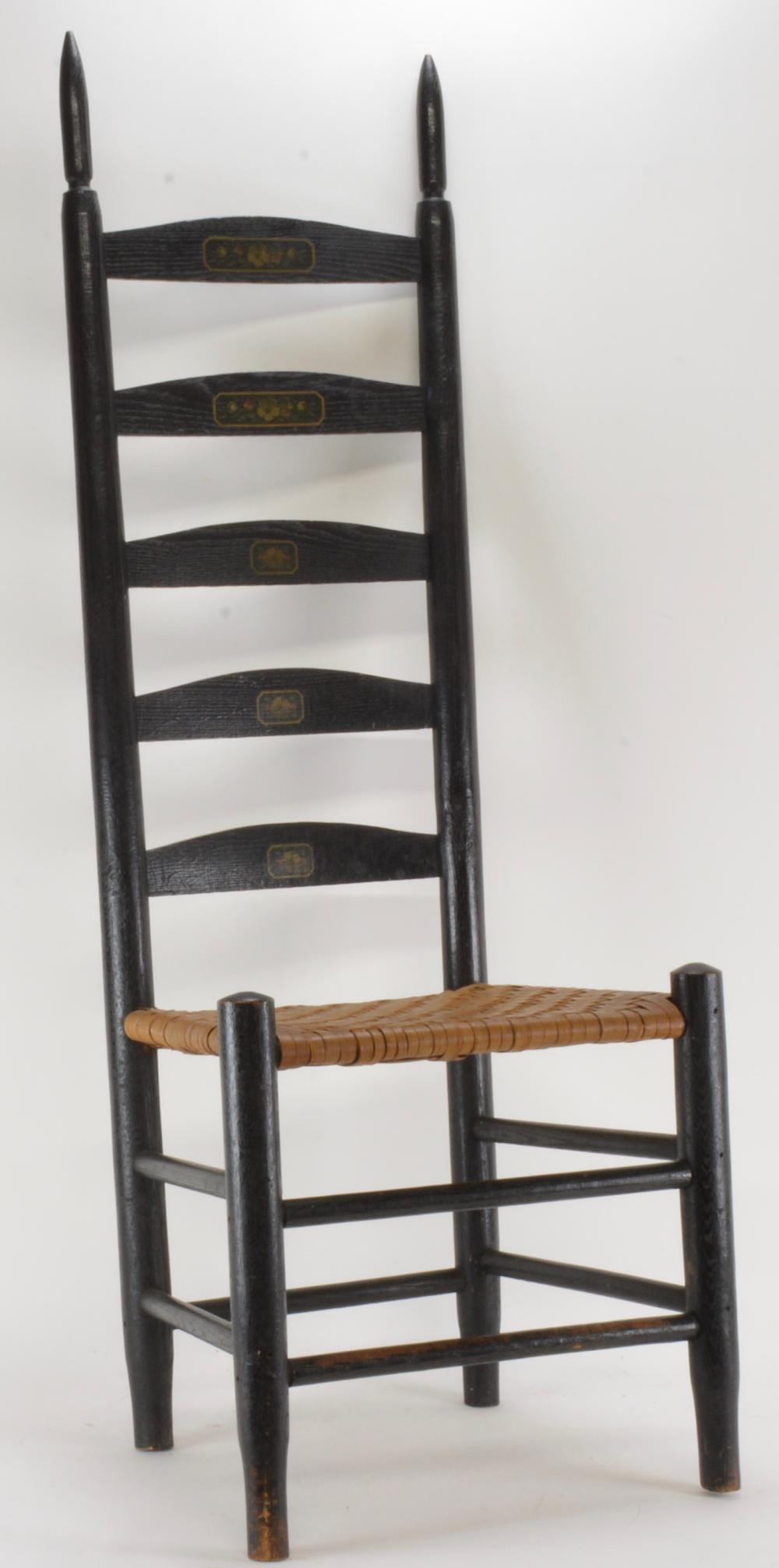 Early American Shaker Style Ladder Back Chair