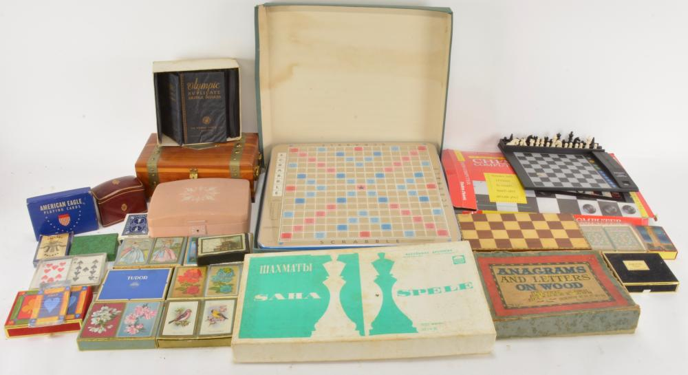 Vintage Board Games Playing Cards Collection