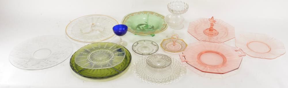 Vintage Elegant And Depression Glass Lot