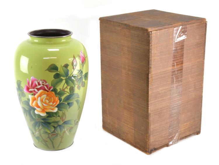 J Ando Cloisonne Vase