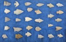 North Carolina Quartz Indian Arrowhead Collection