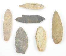 American Indian Spear Head Collection