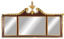 Federal Gilt Wood Over Mantle Mirror