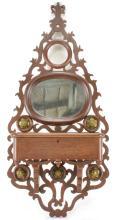 Walnut Victorian Hanging Shaving Mirror