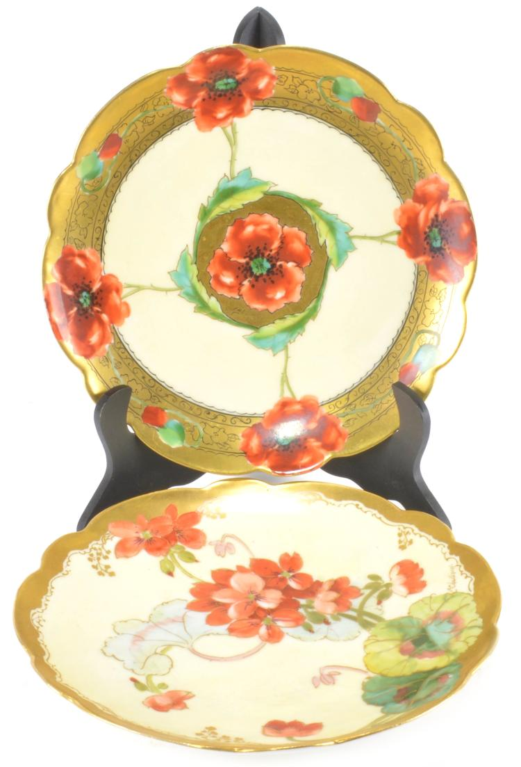Hand painted pickard porcelain plates for Where to buy ceramic plates to paint