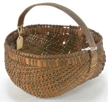North Carolina Cherokee Indian Woven Basket