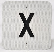 Square X Tin Sign