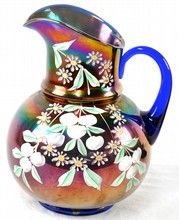 Fenton Enameled Cherries Pitcher