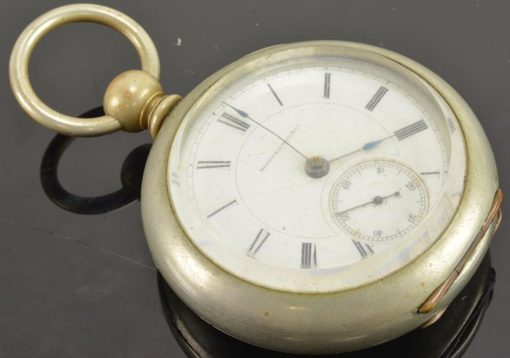Antique Hampden Key Wind Pocket Watch