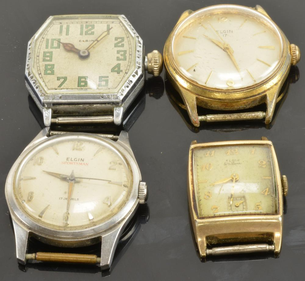 Vintage Elgin Men's Wristwatch Collection