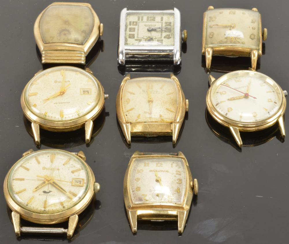 Vintage Benrus And Bulova Men's Wristwatch Collection