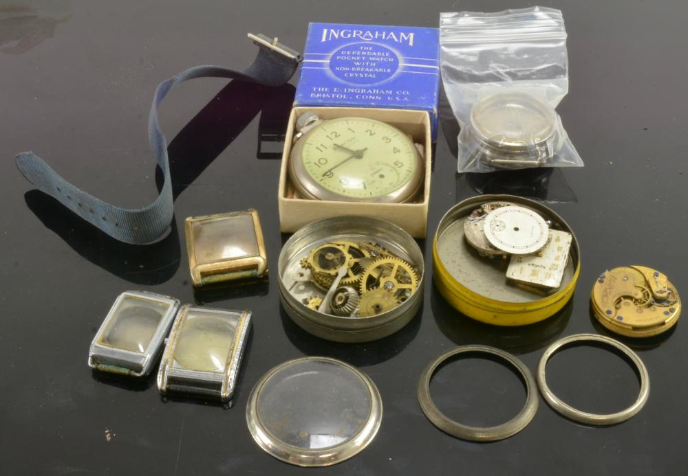 Antique Pocket Wristwatch Parts Collection