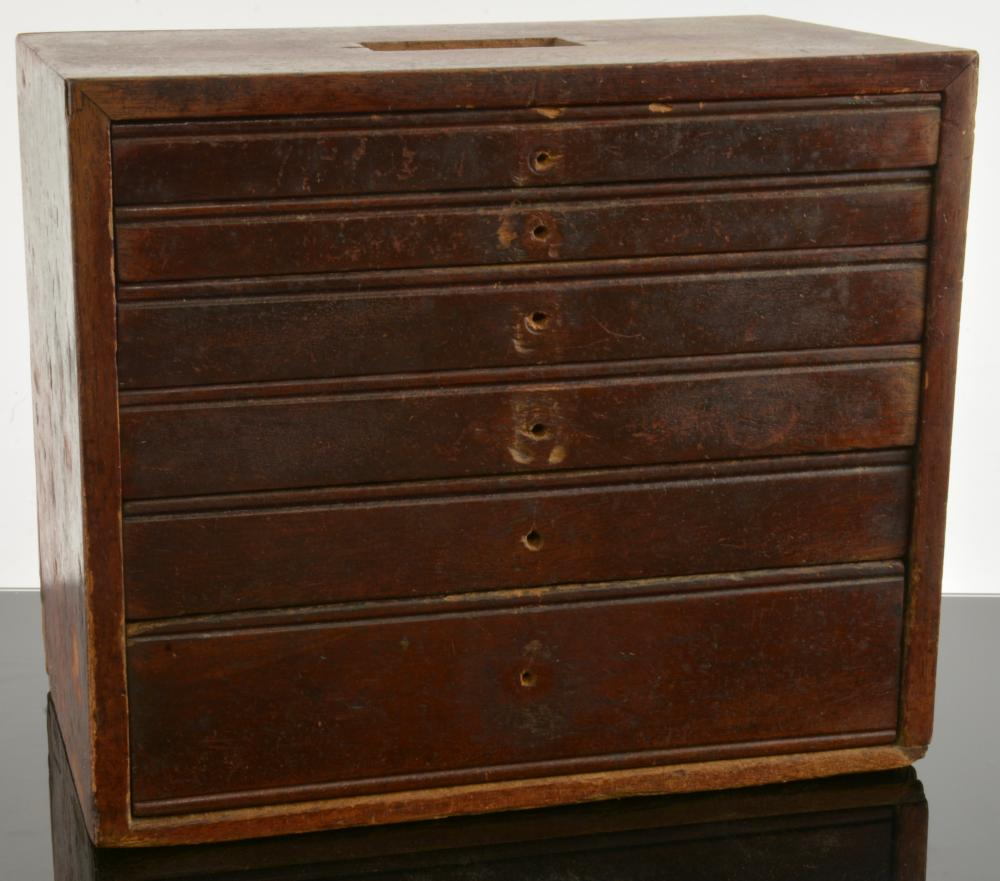 Antique Watchmaker Tool Chest With Tools