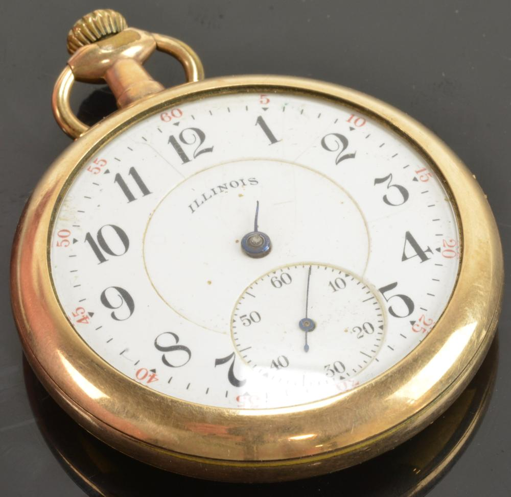 Antique Illinois 17 Jewel Pocket Watch