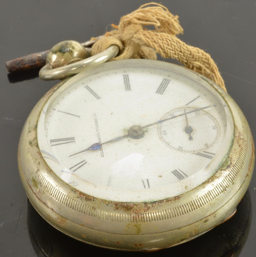 Antique Elgin Key Wind Pocket Watch