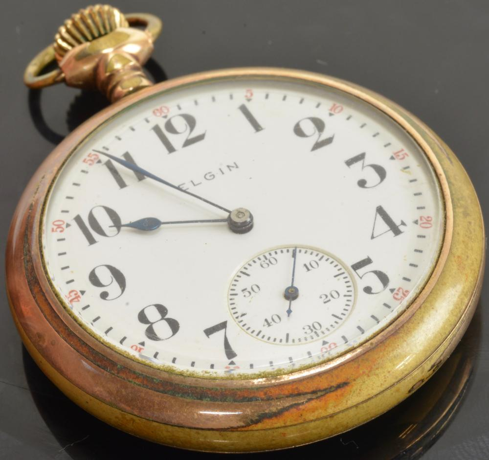 Antique Elgin Seven Jewel Pocket Watch