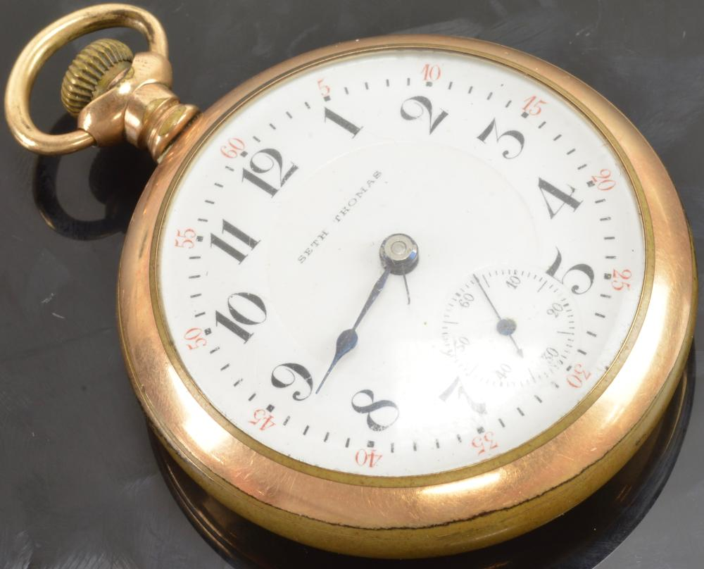 Antique Seth Thomas Size 18 Pocket Watch