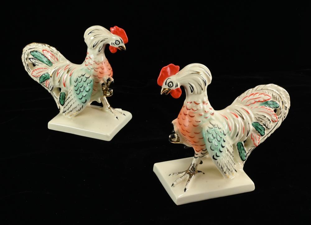 Vintage ERPHILA Czechoslovakia Roosters