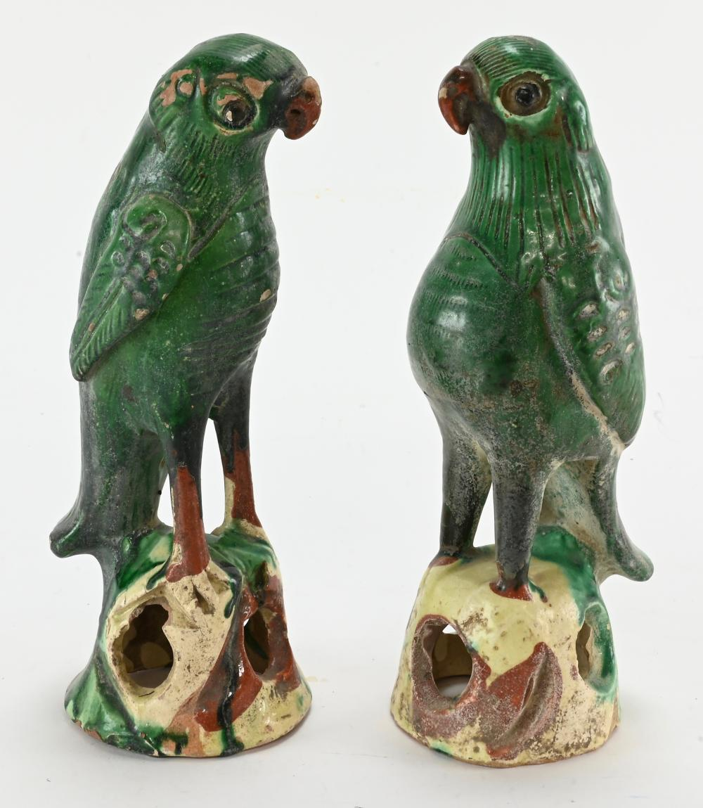 Antique Chinese Pottery Birds