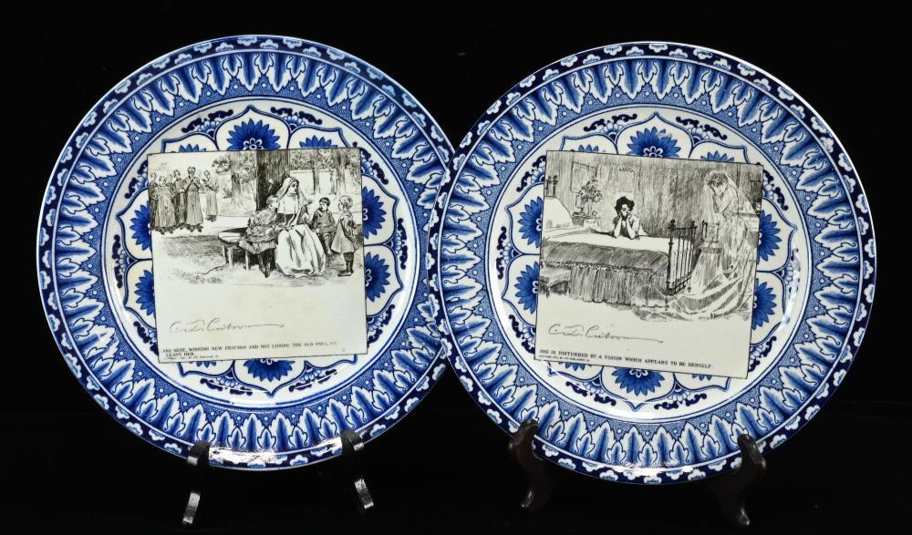 Antique Royal Doulton England C.D. Gibson Plates