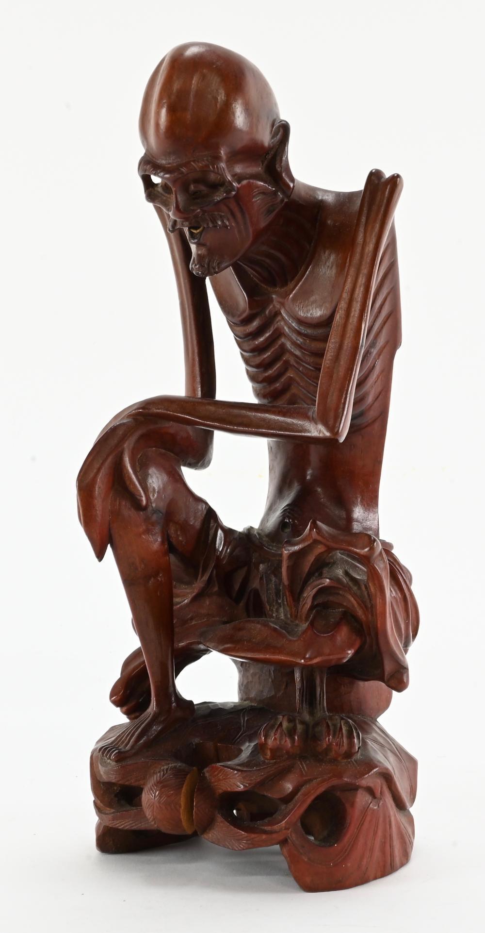 Asian Wood Carving Bone Man