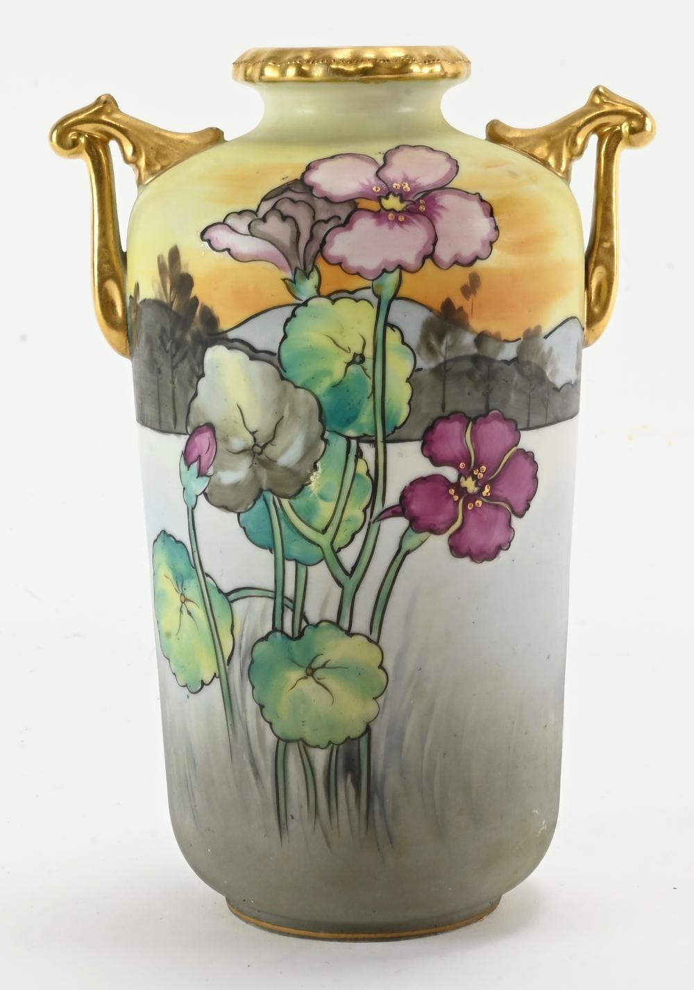 Vintage Hand Painted Nippon Porcelain Vase