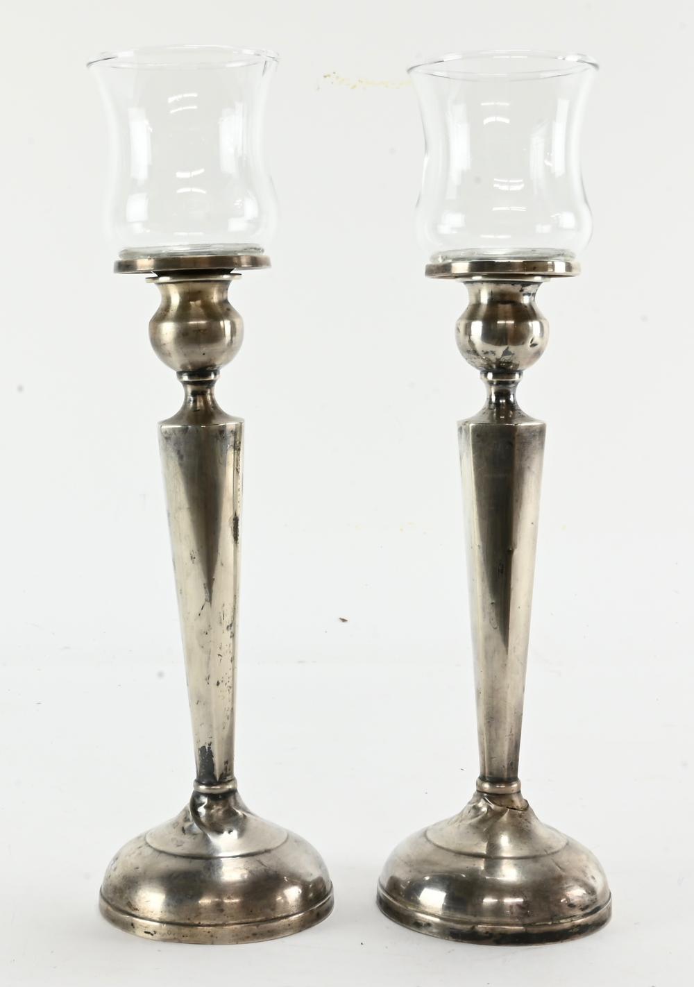 Vintage Pair Sterling Silver Candlesticks